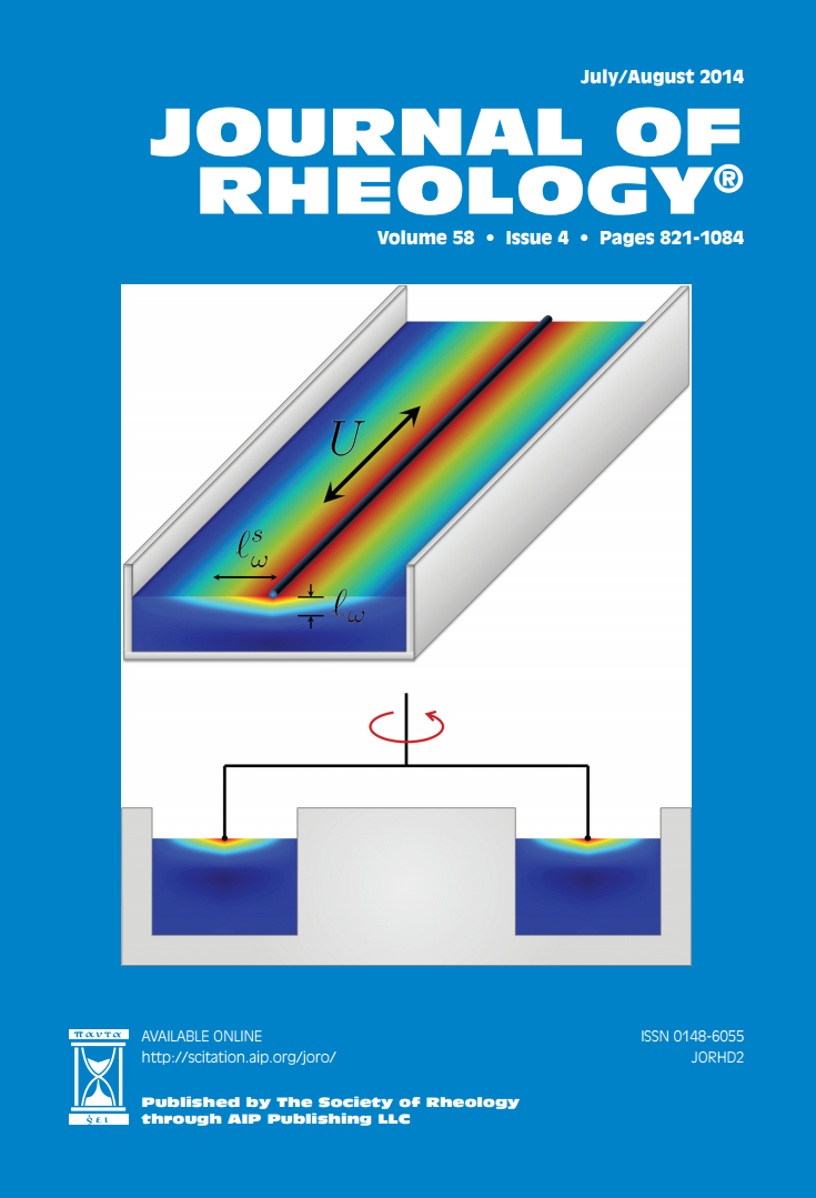 Journal of Rheology Cover Art 2014