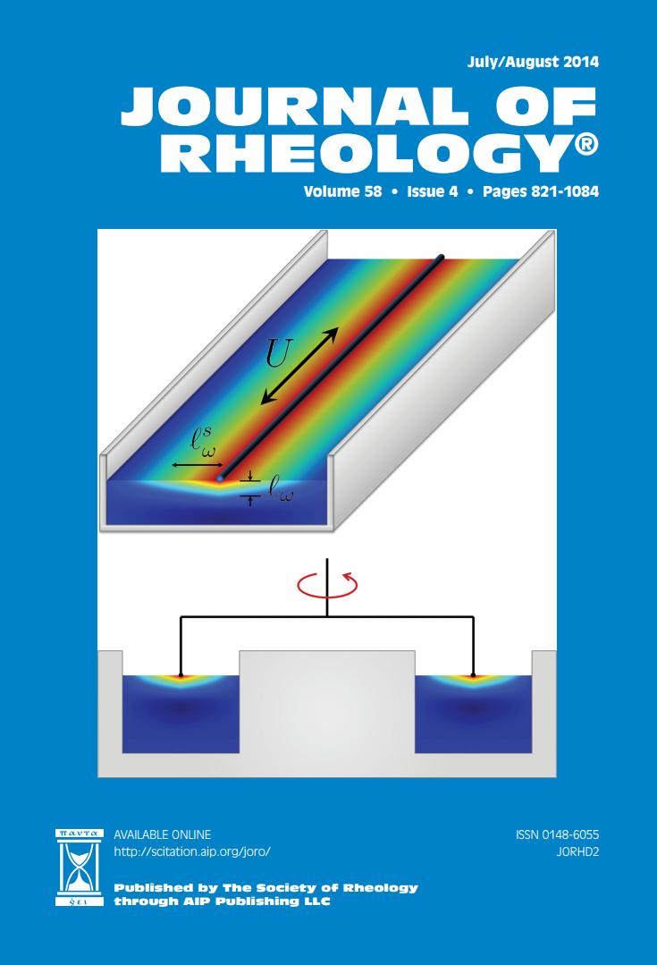 Journal of Rheology Cover Art 2014